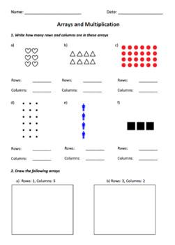 Arrays & Multiplication Test