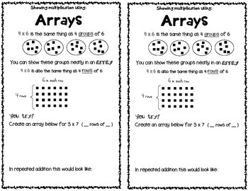 Arrays Notes for Interactive Notebook