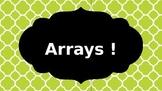 Arrays PowerPoint (Area, Rows, Columns) EDITABLE