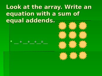 Arrays Powerpoint for Practice or Reteaching
