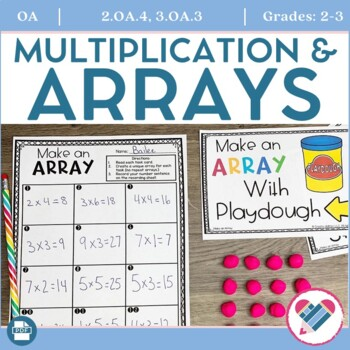 graphic relating to Printable Task Cards called Arrays Printables, Endeavor Playing cards, and Heart Routines