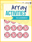 Arrays Activities Worksheets and Task Cards for 2nd Grade 2.OA.C.4