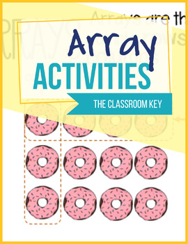 Arrays Activities Worksheets and Task Cards for 2nd Grade
