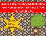 3.4D 3.4E Arrays/Representing Multiplication Facts Computation Task Cards STAAR