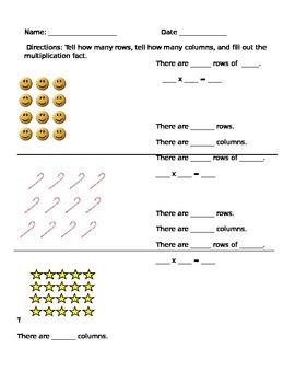 Arrays Worksheet