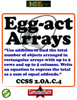 Arrays and Addition Equations: Common Core Aligned and Cer