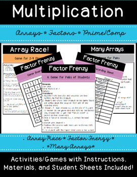 Arrays and Factors Games and Activities