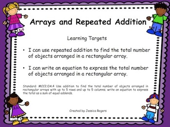 Arrays and Repeated Addition