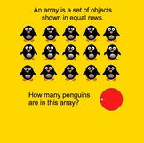 Arrays for Multiplication SmartBoard lesson 15 slides