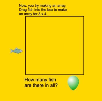 Arrays for Multiplication SmartBoard lesson 15 slides