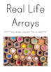 Arrays in Real Life Mini Posters