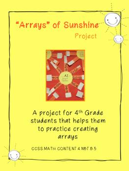 Arrays of Sunshine Craftivity