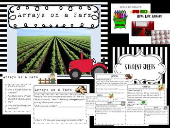 Arrays on a Farm~Multiplication Stations. Problem Solving/Real Life Arrays