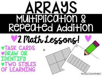 Arrays with Multiplication and Repeated Addition