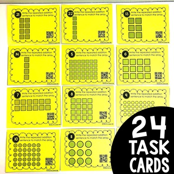 Arrays with Repeated Addition Task Cards (included in Math Task Card Bundle)