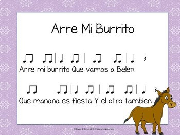 Arre Mi Burrito: A Spanish Folk song for Christmas