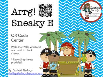 Arrg! Sneaky E CVCe Words QR Codes