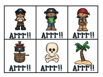 Arrgh!! Pirate-Sight Word Game-Wonders Sight Words