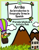 Arriba Geography Vocabulary Printable Minibook & Theme Pac