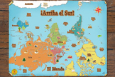 Spanish World Map ¡Arriba el Sur!