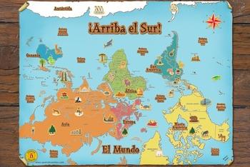 Spanish World Map ¡Arriba el Sur!