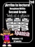 Arriba la Lectura Spanish Second Grade  HMH Houghton Mifflin Week at a Glance