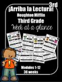 Arriba la Lectura Spanish Third Grade  HMH Houghton Mifflin Week at a Glance