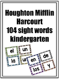 Arriba la lectura HMH  Kindergarten High Frequency Words Flashcards Bright Color