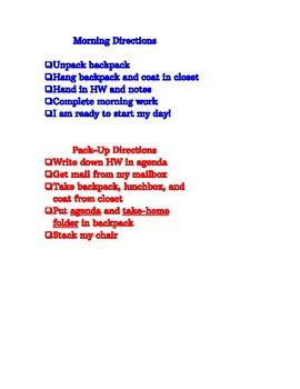 Arrival & Dismissal Routines (checklist)