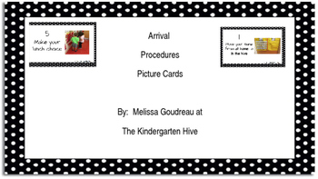 Arrival Procedures Picture Cards (Editable)