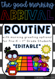 Arrival Routine and Morning Greeting Schedule Cards