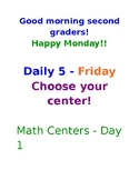 Arrival Routines, Daily 5 Schedule and Guided Math Schedule