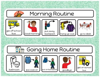Arrival and DIsmissal Routine Visuals