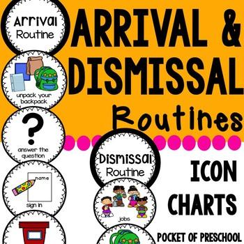 Arrival and Dismissal EDITABLE Rotuine Charts