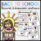 Arrival and Dismissal Routine Cards