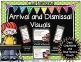 Arrival and Dismissal Routine Visuals Customized