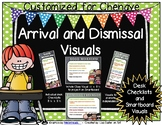 Arrival and Dismissal Routine Visuals Customized for Chenaye