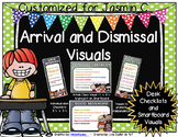 Arrival and Dismissal Routine Visuals Customized for Jasmin C.