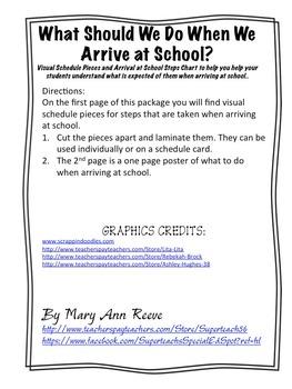 Arrival at School Visuals- FREEBIE