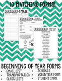 Arrow Beginning of Year Forms COMPLETELY EDITABLE