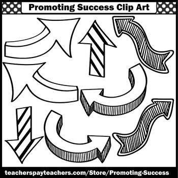Arrow Clip Art BUNDLE, Arrows Clipart Theme Commercial Use SPS