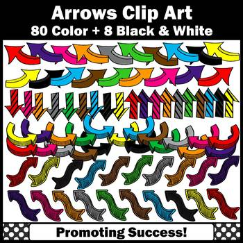 Colorful Arrow Clipart Commercial Use SPS