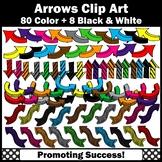 Colorful Arrow Clipart, Newletter Clip Art,  SPS