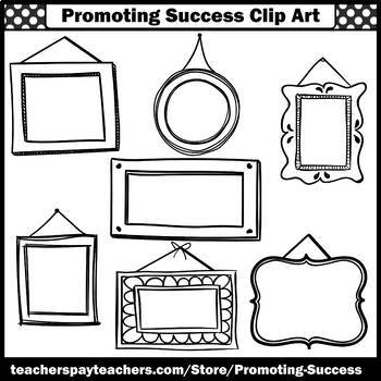 Picture Frames Clip Art BUNDLE for Commercial Use Colorful Frame Clipart SPS