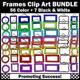 Rainbow Picture Frame Clipart, Display Student Work, Commercial Use SPS