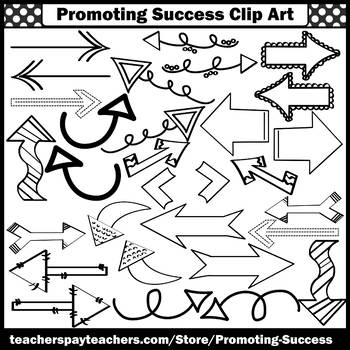 Black and White Arrows Clipart for Bulletin Boards Graphic Organizers SPS