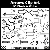 Arrow Clip Art for Newsletters, Arrows Theme Clipart, Blac