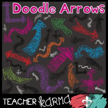 Arrow Clipart: Doodle Chalk Style