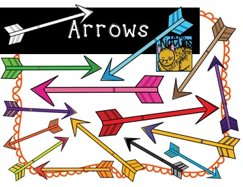 Arrow Colorful Clip Art by Kid-E-Clips Commercial and Pers