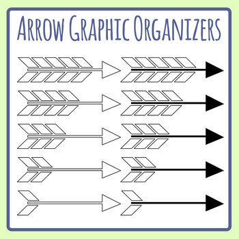 Arrow Craphic Organizers Blank Templates Clip Art Set Commercial Use